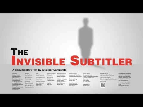 The Invisible Subtitler - A Documentary (SDH Subtitles included)