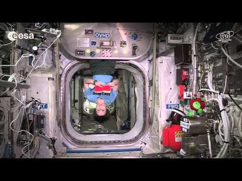 Towel day on the International Space Station